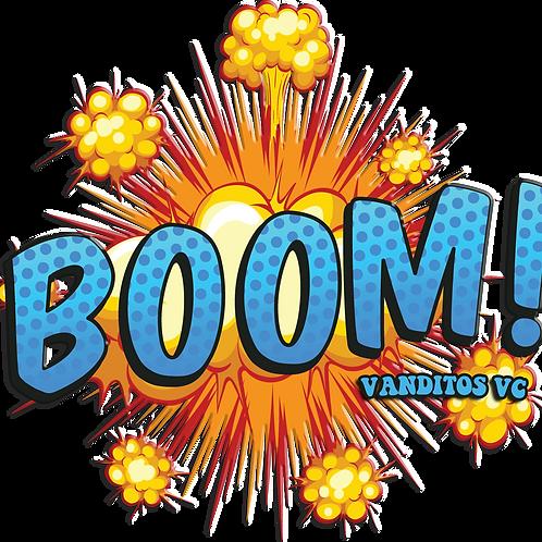 Boom window sticker