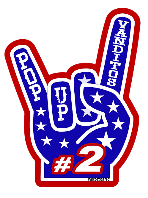 Pop-Up 2 fingers, small sticker