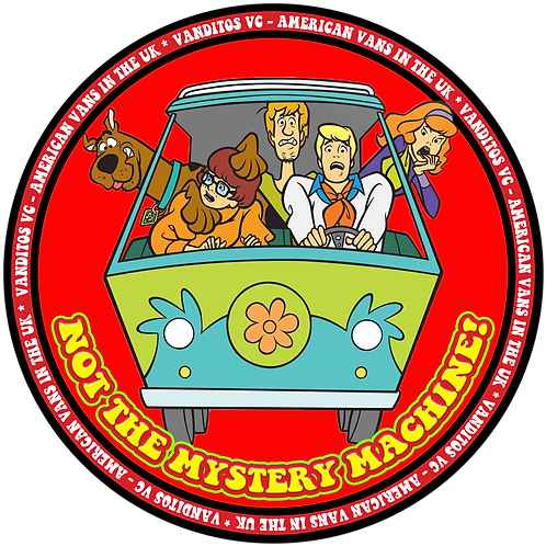 Mystery Machine NOT! sticker