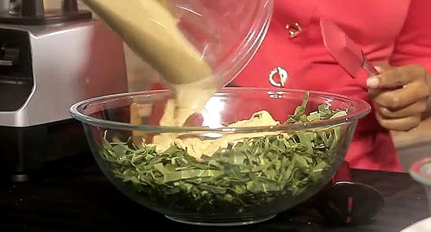 Creamy Raw Collard Greens