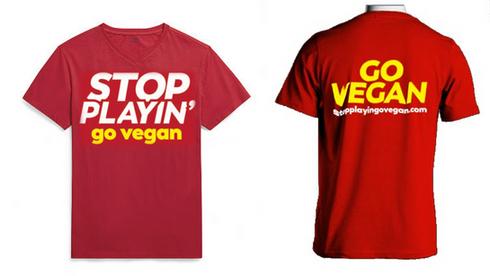 Stopy Playin' Go Vegan T-shirts