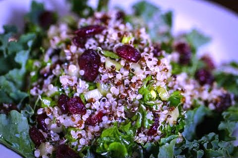 Sprouted Cranberry Kale Quinao