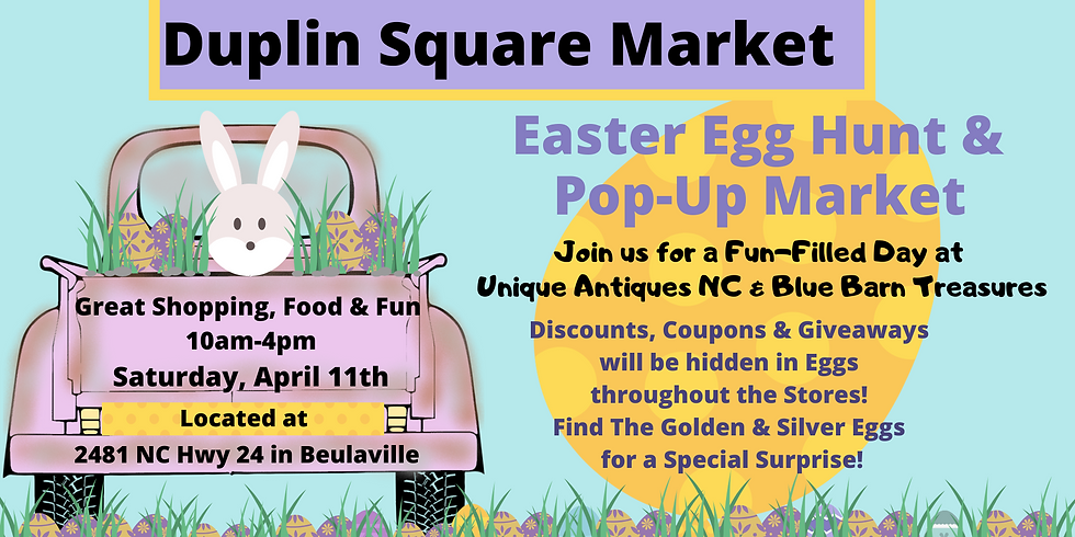 Easter PopUp Market -*COVID19 Subject to change