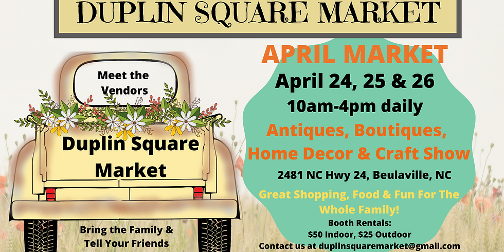 April Market -*COVID19 Subject to change