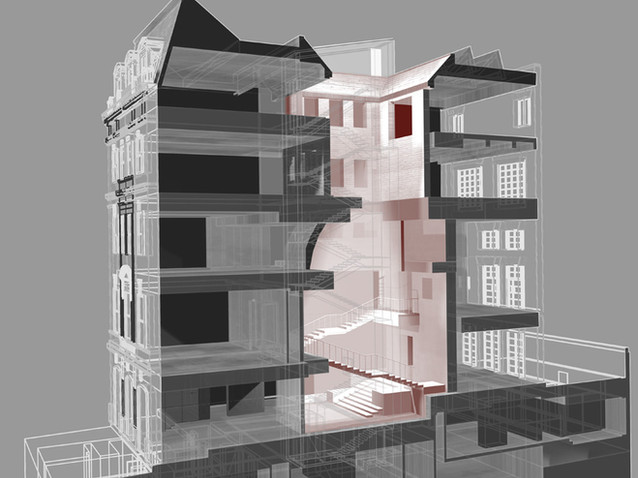 008 Manhattan Townhouse Rendering Sectio