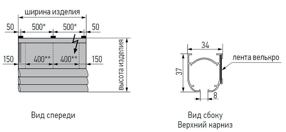 Римские шторы Амиго Дизайн ТЕХНИЧЕСКИЕ ОСОБЕННОСТИ