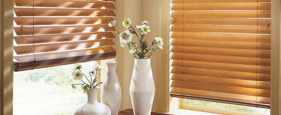 Горизонтальные деревянные и бамбуковые жалюзи Амиго Дизайн
