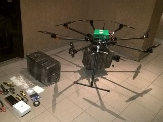 shipping cigarettes with drone