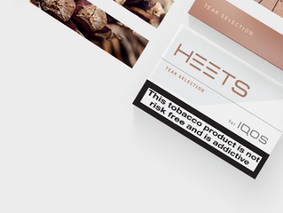 HEETS TEAK: NEW TASTE OF STICKS IN STOCK.