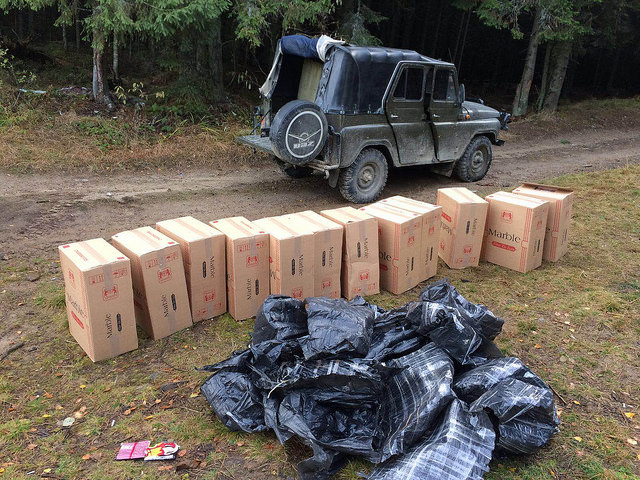 Smuggling of cigarettes from Ukraine