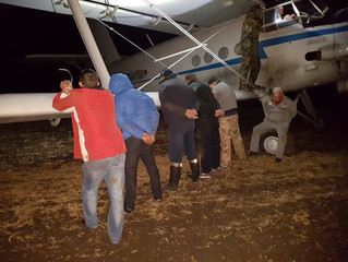 "In Khmelnytsky region ""Security Service of Ukraine"" detained the plane, filled with contra"