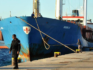 In Greece, the detained Ukrainian ship, which was carrying a large quantity of cigarettes