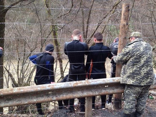 On the UKRAINIAN-ROMANIAN border, 14 divers-smugglers were detained