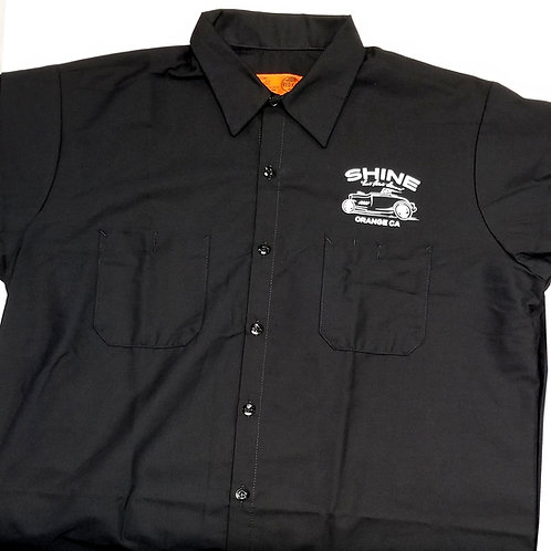 Racer Collared Work Shirt