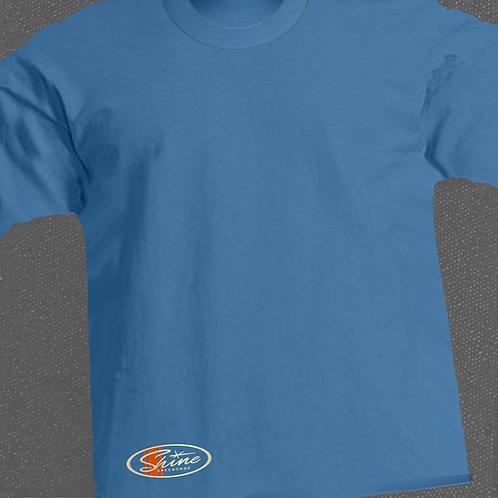 Shine-hola BLUE racing stripe logo back print T