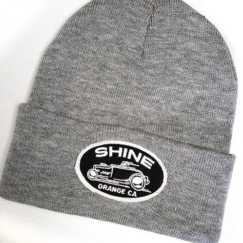 Racer Beanie gray with patch
