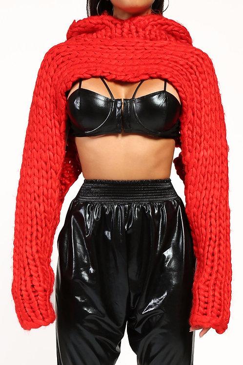 Hawt ♨️ Cropped Hoodie sweater