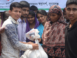 Sunamganj Haor Region: Over 100 Families Received Flood Relief