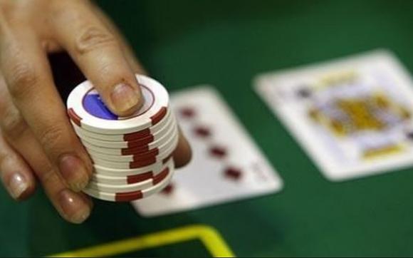 오락과 도박 칩사진