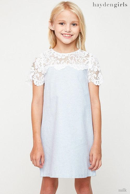5205 Lace Detailed Shirt Dress