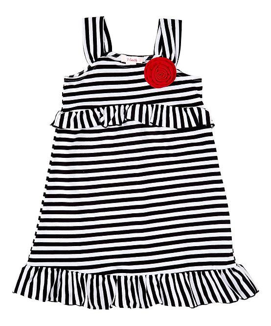 1852 Girl Cotton Stripe Dress
