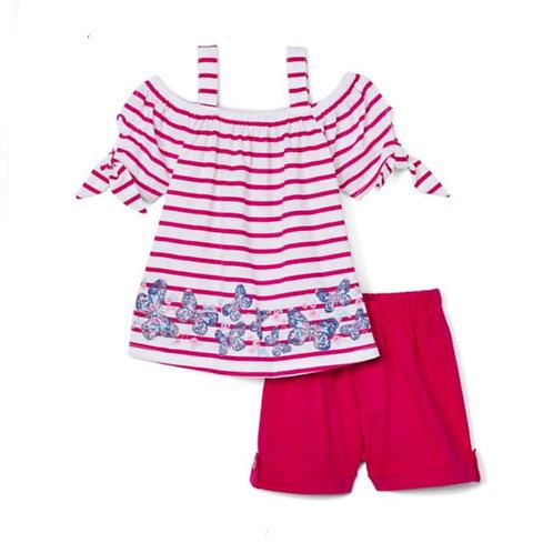 Girls' 2-pieces short pink set