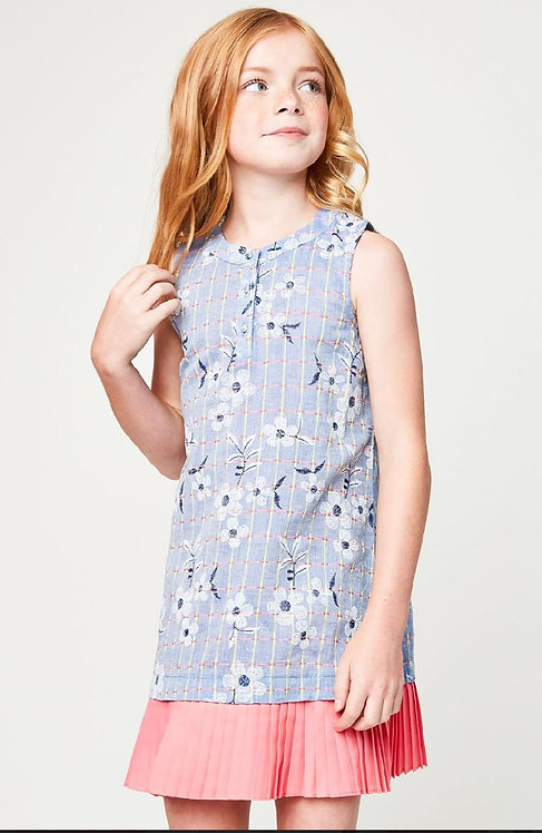 5085 Kids Embroidered Dress