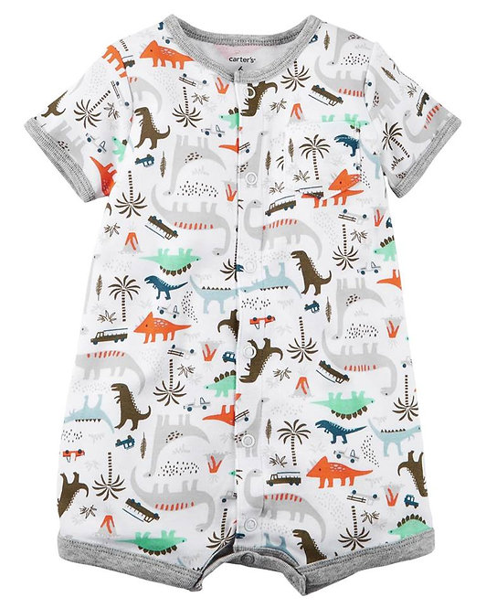DINOSAURS SNAP-UP ROMPER