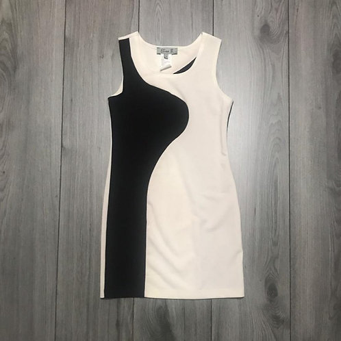6659 Black White Dress