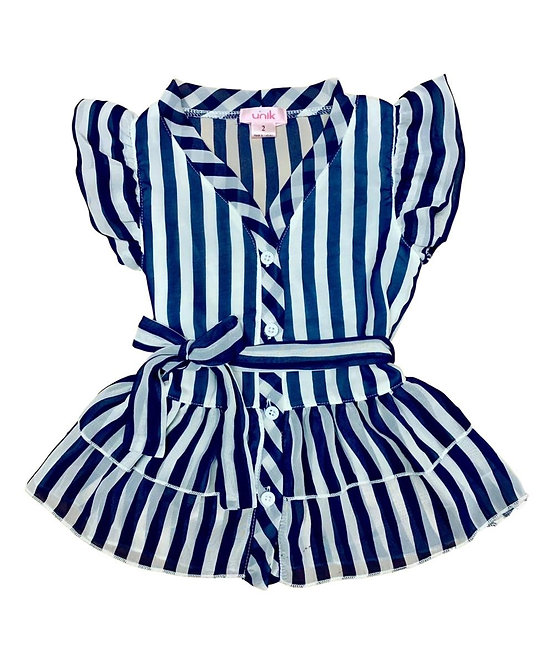 717 Girl Striped Dress