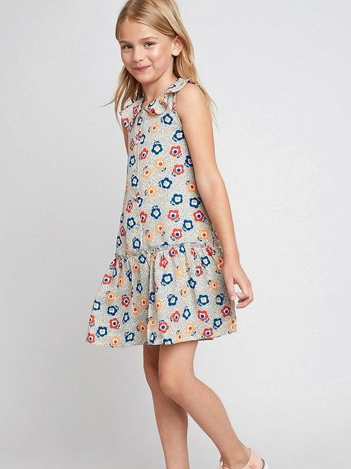 6065 Printed Dollared Dress
