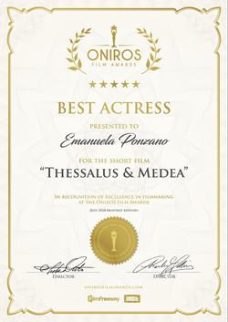 Oniros Iff award