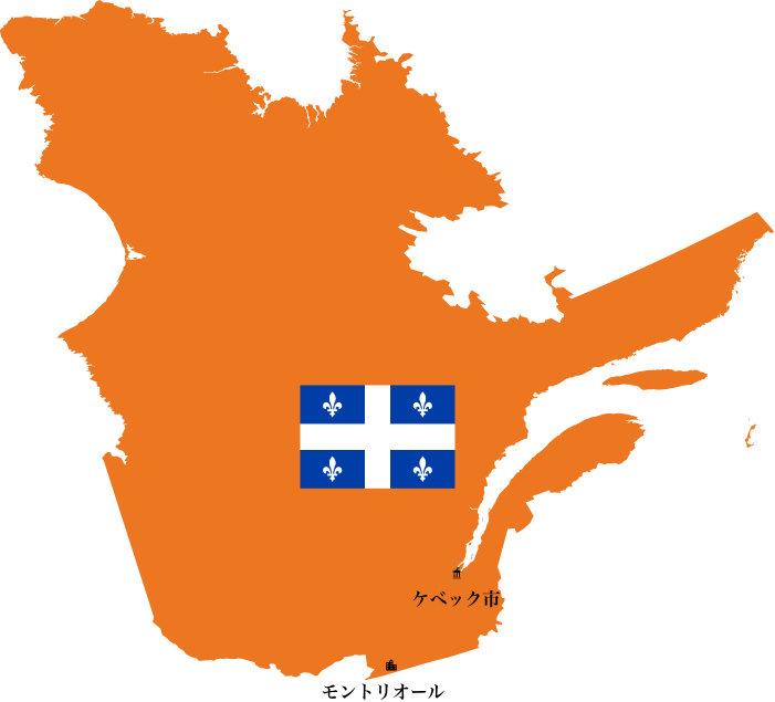 ケベック州地図