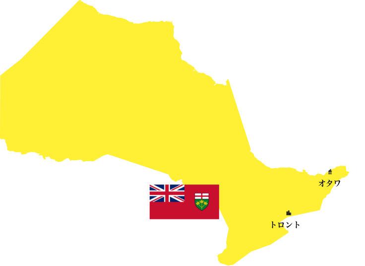 オンタリオ州地図