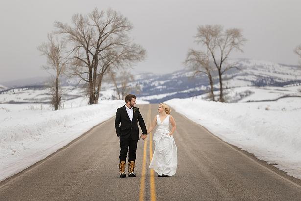 Photography of a Jackson Hole Winter Wedding