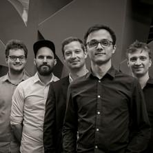 Vincent Eberle Quintett Pressefoto Schwarz/Weiß