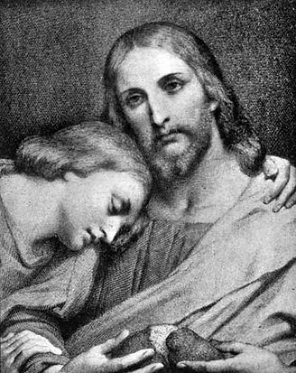Picture to the Right is Jesus with the Apostle John.