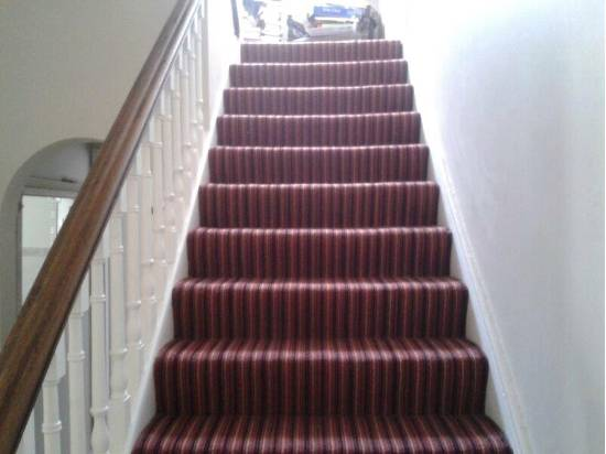 Carpet design on stairs