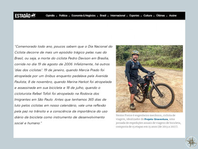 MÍDIA: MOBILIDADE ESTADÃO: DIA NACIONAL DO CICLISTA - 19 DE AGOSTO
