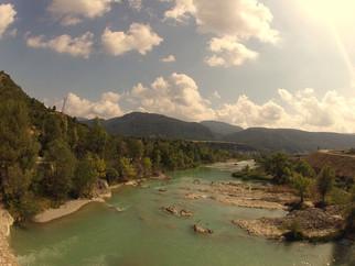 Cruzando o Rio Gállego