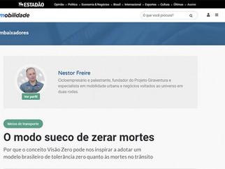 MATÉRIA ESTADÃO: O MODO SUECO DE ZERAR AS MORTES NO TRÂNSITO
