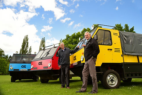 Torquil Norman and Gordan Murray with OX truck