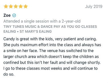 Tiny Tunes Class review