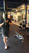 back lunges with Vipr