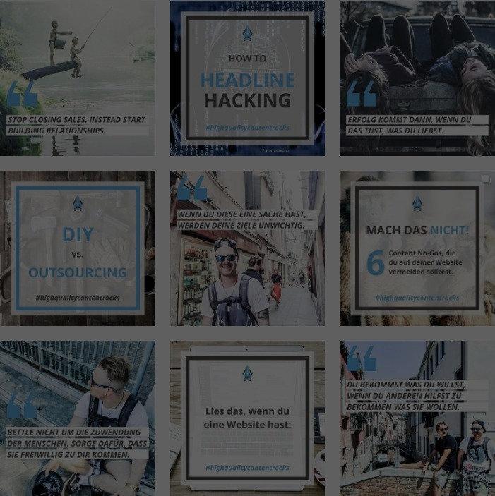Folge highqualitcontentrocks auf Instagram und erhalte regelmäßig die besten Content Marketing Tipps.