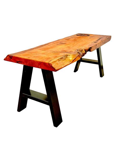 Yew Horseshoe Bench