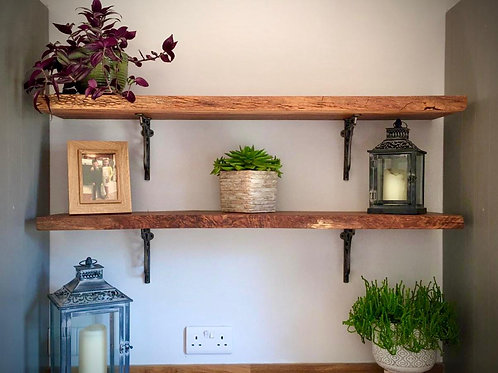 Solid Live Edge Shelving