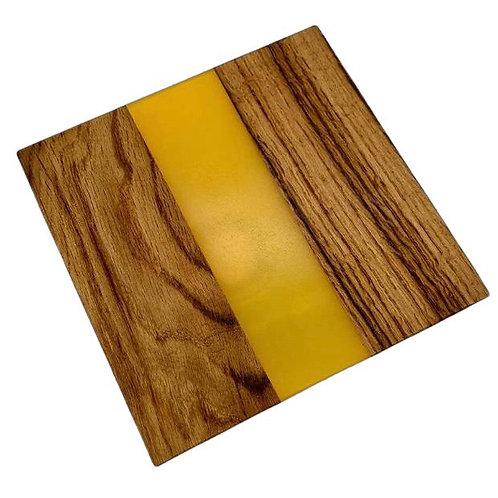 Oak & Yellow Resin Chopping Board