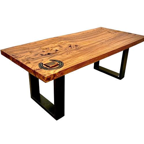 Oak Horseshoe Coffee Table