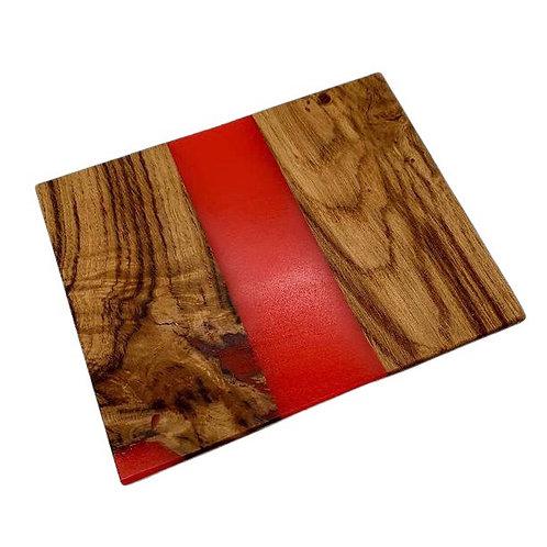 Oak & Red Resin Chopping Board